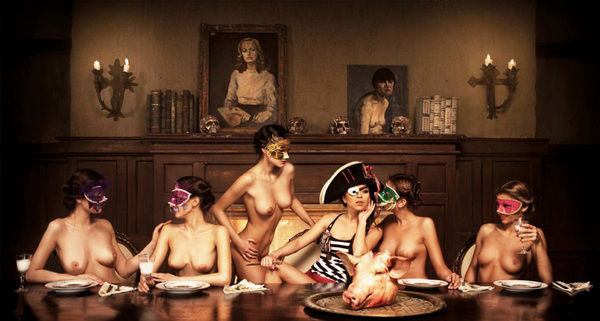 Topless Dinner Party